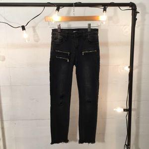 Hudson Skinny Jeans Girls Sz 10 Zipper Hardware